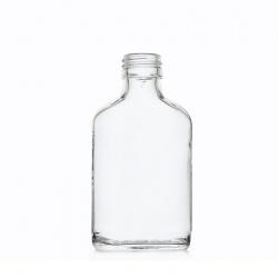 Boca staklena Spirit svijetla plosnata F100 100 ml