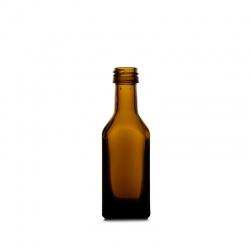 Boca staklena Spirit tamna plosnata 20 ml