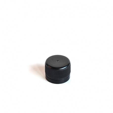 Zatvarač za bocu PP 28, crni, sig.prsten, liner (brtva)