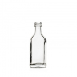 Boca staklena Spirit svjetla plosnata 20 ml