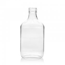 Boca staklena Spirit svijetla plosnata 200 ml